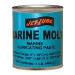 Molybdeun disulfide lubricating pase Jet-Lube Marine-Moly.