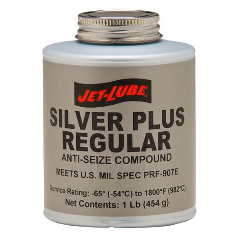 Metallic anti-seize with aluminium Jet-Lube Silver Plus Anti-Seize Compound.