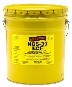 Environmentally safe, non-metallic, biodegradable thread compound Jet-Lube NCS-30 ECF.
